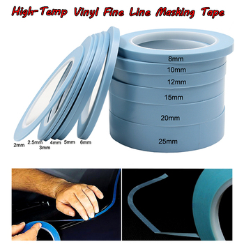 Blue High-Temp PVC Vinyl Fine Line Masking Tape Car Auto Body Shop Fineline Painter Tape мультилайнер derwent line painter 03 оранжевый