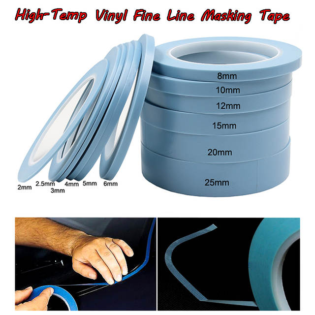 Fine Line Auto >> Us 4 99 Blue High Temperature Single Sided Adhesive Pvc Vinyl Fine Line Masking Tape Car Auto Body Shops Paint Fineline Tape In Office Adhesive Tape