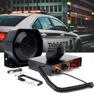 Carro de emergência aviso polícia sirene auto caminhão alarme microfone alto-falante incêndio ambulância motocicleta chifre dc 12 v 200 w super alto