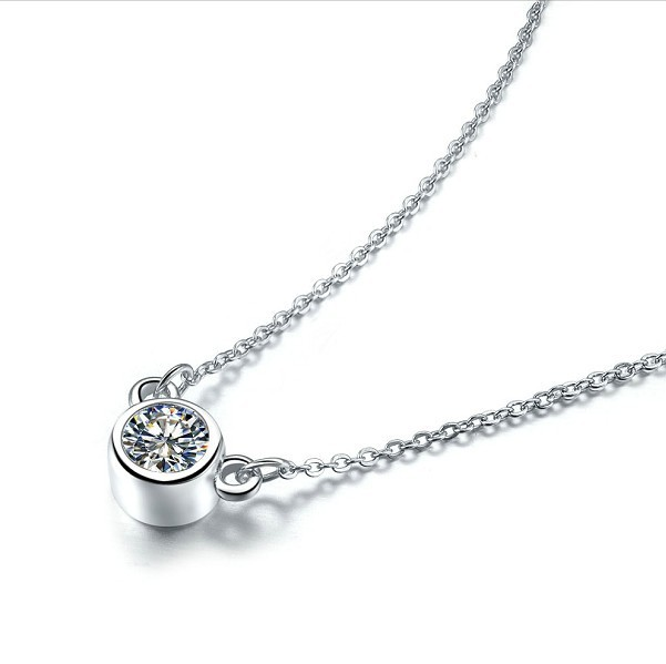 Lovely 925 silver chain necklace pendant elegant 1ct sona diamond lovely 925 silver chain necklace pendant elegant 1ct sona diamond jewelry small animals ornaments gold cover mozeypictures Choice Image