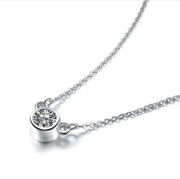 Lovely 925 silver chain necklace pendant elegant 1ct sona diamond lovely 925 silver chain necklace pendant elegant 1ct sona diamond jewelry small animals ornaments gold cover aloadofball Choice Image