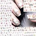 2017 12 листов красоты смешанная дизайн Hello Kitty Наклейки Вода Передача Nail Art Наклейки наклейки на Ногти Аксессуары маникюрные инструменты