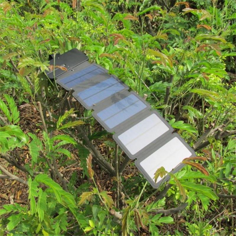 KERNUAP SunPower Folding 10W Solar Cells Charger 5V 2.1A USB Output Devices Portable Solar Panels for Smartphones 6
