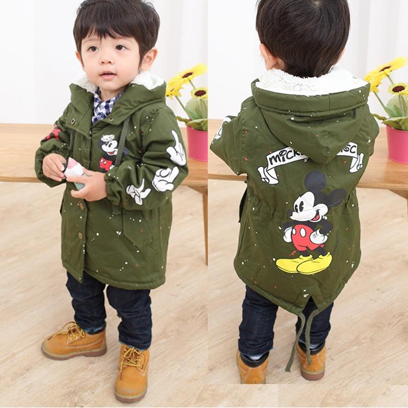 Baby Boys Girls Hooded Jacket Coat Spring Winter Kids Windbreaker for Boy Plus Thicken F ...