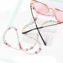 1 шт., модная цепочка для солнцезащитных очков с бусинами, аксессуары для солнцезащитных очков, держатель шнура для мужчин и женщин