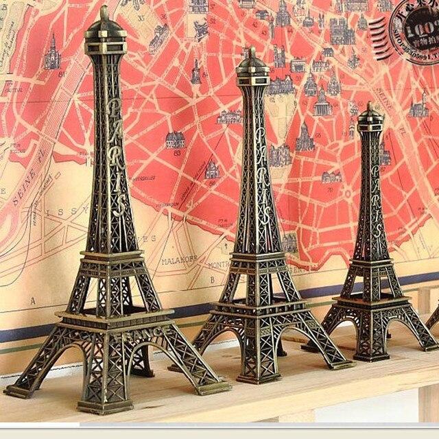 1pc 5-25cm Paris Tower Metal Crafts Creative Souvenir Model Table Miniaturas Desk Ornaments Vintage Figurine Home Decor 1