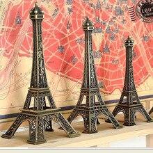 1 pieza 5-25cm torre de París artesanías de Metal creativo Souvenir modelo Mesa Miniaturas adornos de escritorio estatuilla Vintage decoración del hogar