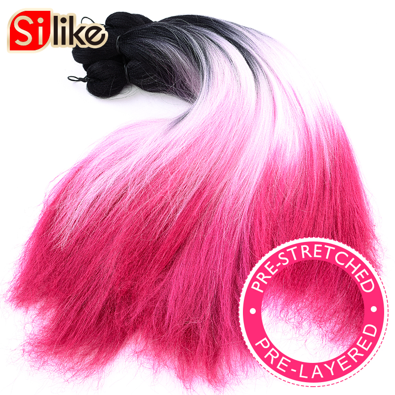 Silike fácil trança jumbo briads cabelo camadas