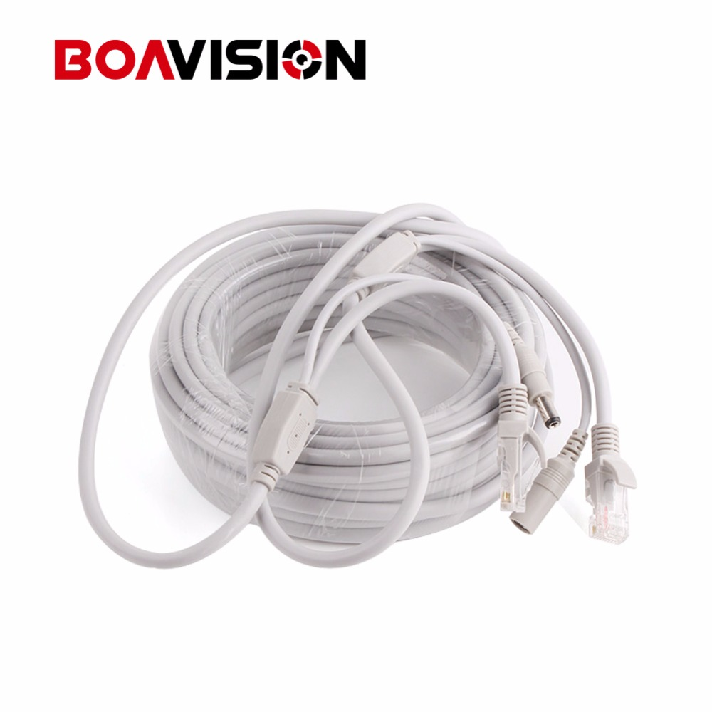 10m / 20m / 30m / 40m Ethernet Cable RJ45 + DC Power CAT5/CAT-5e CCTV Network Cable Lan Cable For IP Camera NVR System