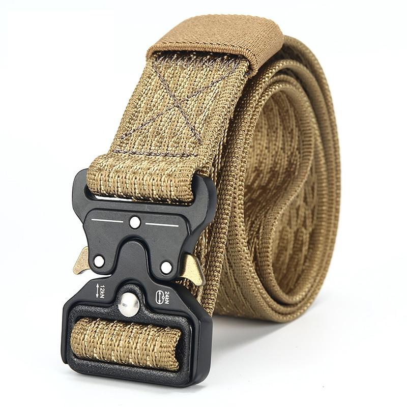 [DWTS]Mens Canvas Belt Male Tactical Belt Men Outdoor Army Belt 100% Nylon Training Military Belts High Quality cinturon tactico belt