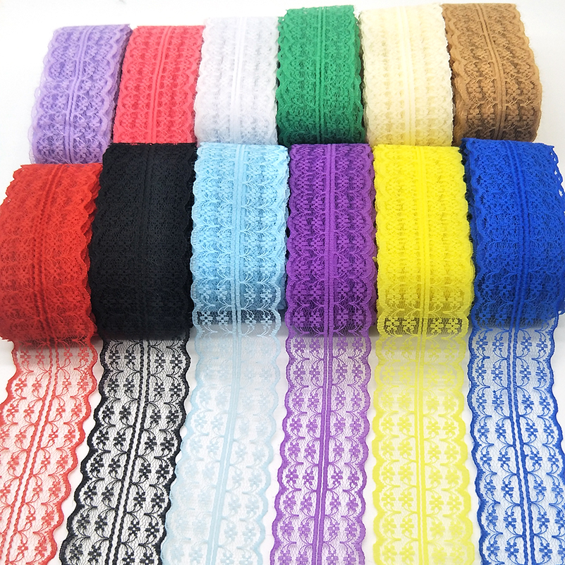 10 Yards High Quality Beautiful Lace Ribbon Tape 45MM Lace Trim DIY Embroidered For Sewing Decoration African Lace Fabric Ribbon