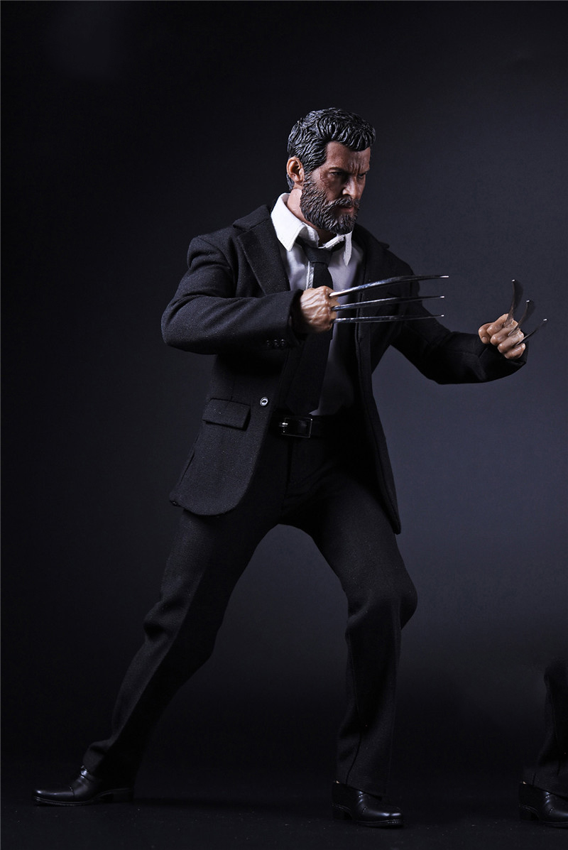 1/6 Wolverine Logan Full Set Action Figures Black Suit Body Head with Accessories Toys Gifts Collections