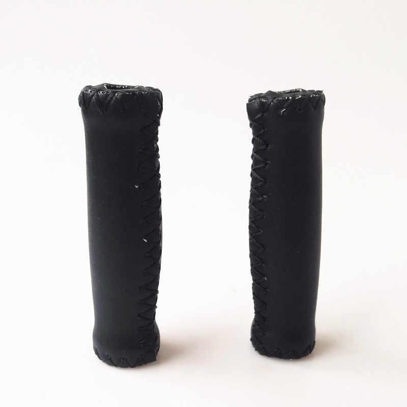Ultralight Sepeda Stang Grip PU Kulit + Elastis Tinggi Sponge Sepeda Genggaman Lembut Retro Sepeda MTB Fixed Gear Menangani grip