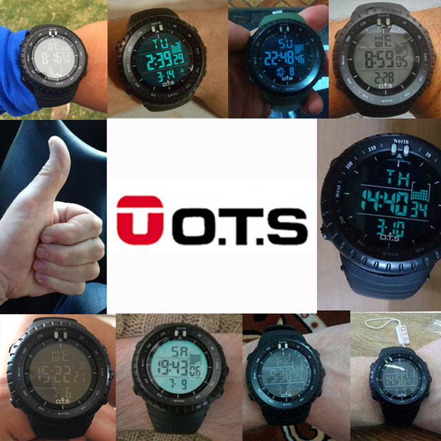 OTS Mens Military Watches Top Brand Luxury Digital Sport Men Sport horloge man Led clock Relogio Masculino Wristwatches For Men