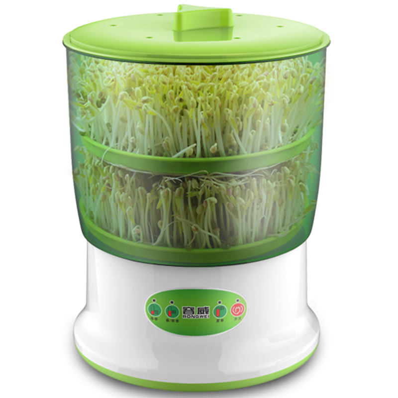 Automatic Bean Sprouts Machine for Home Double Layer Bean Sprouts Machine Large Capacity Fruit and Vegetable Germination Machine bean sprout machine germination intelligence home double layer nursery pots automatic bean sprouts machine kitchen electrical