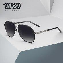 77f03c778ec73 20 20 Clássico Design Da Marca Homens Óculos de Sol Óculos de Aviação  Quadro Óculos Polarizados Homens Condução UV400 Proteção