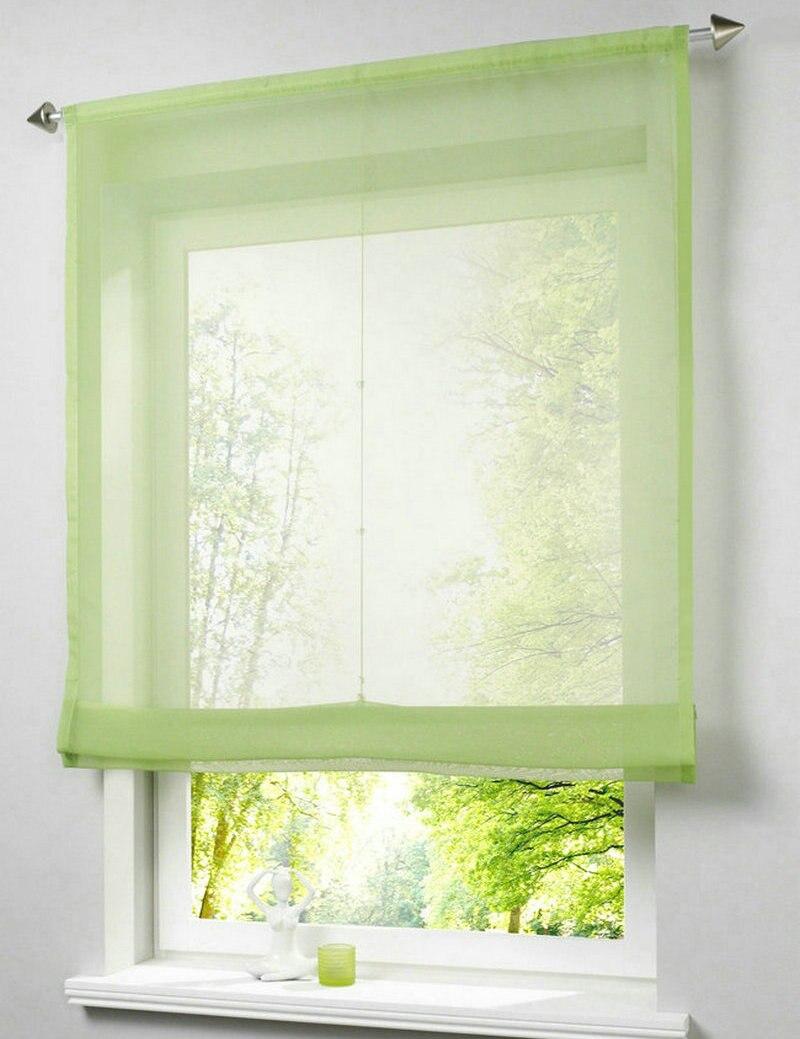 Neue Multicolor Schiere Küche Fenster Römischen Vorhang Höhe Heb ...