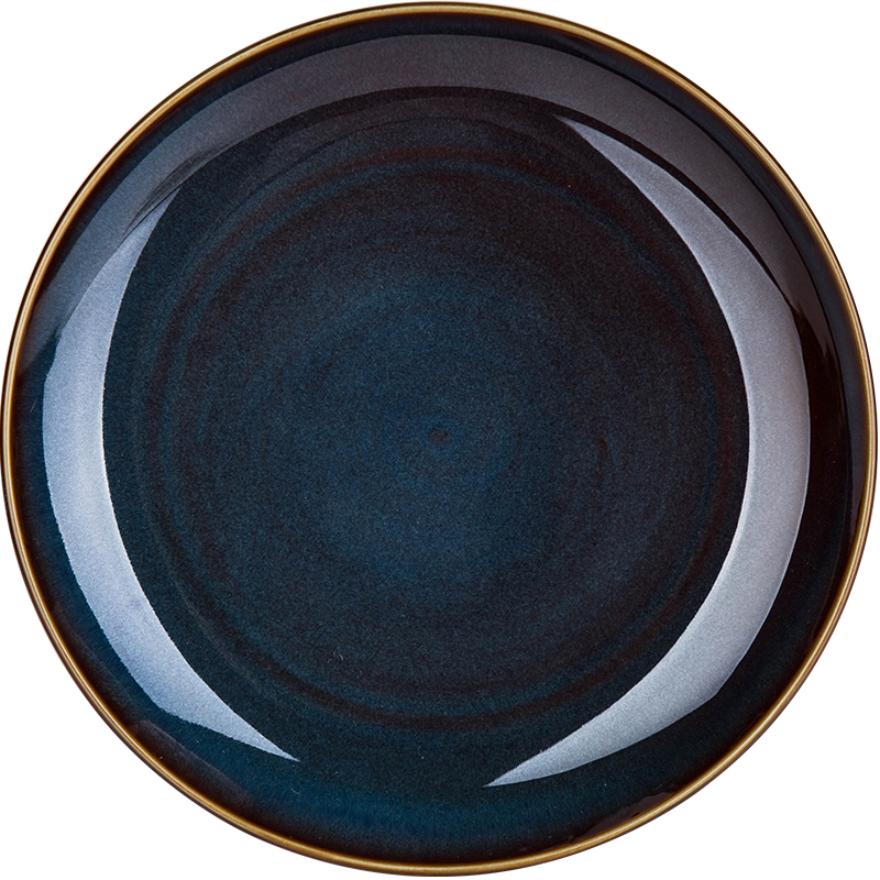 Deep Blue Retro Glazed Ceramic Plates 4