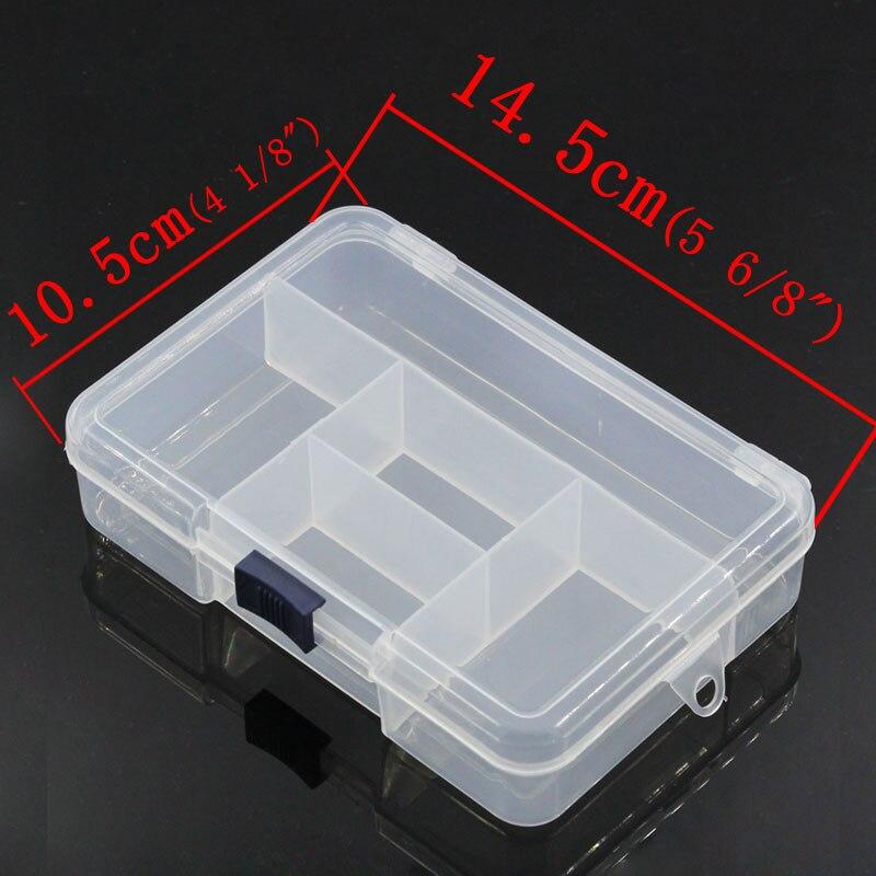 1PC Clear Plastic Storage Transparent Compartments Organizers Cases