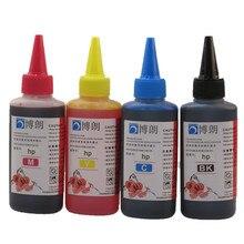 Universal 4 Color de la tinta del tinte para hp, 4 Color 100 ml, para HP Premium Dye ink, General para HP tinta de la impresora todos los modelos