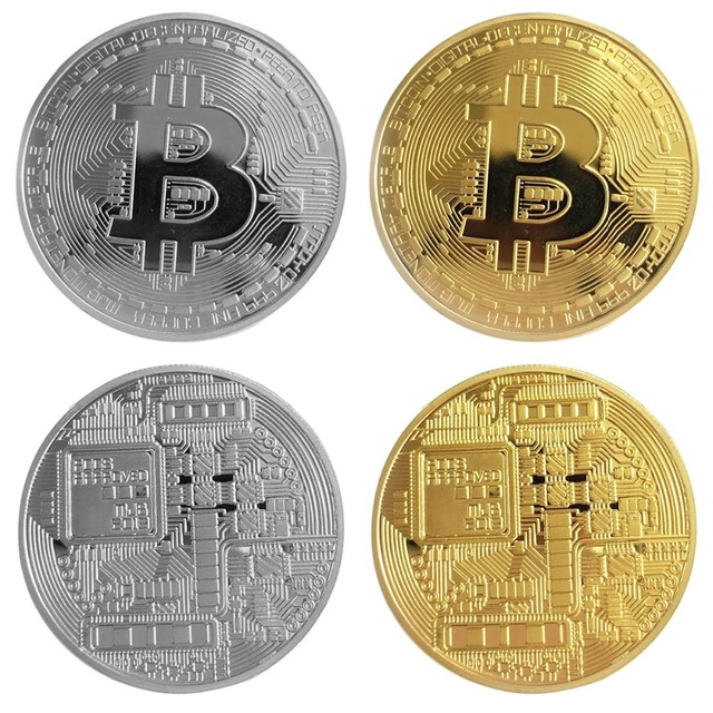 5a0654a390f Gold Plated Bitcoin Coin Collectible BTC Coin Art Collection Gift Physical  Metal Antique Imitation Home Decoration Magic Toys