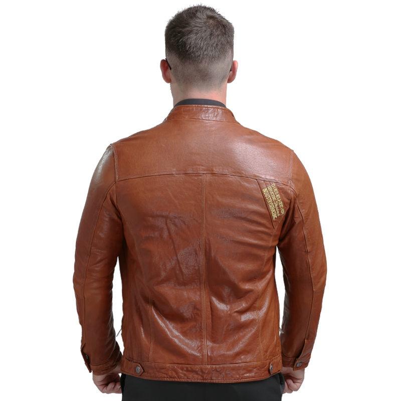 AIBIANOCEL Brand New Lederjacke Winter Echtes Leder Herren Jacke - Herrenbekleidung - Foto 5