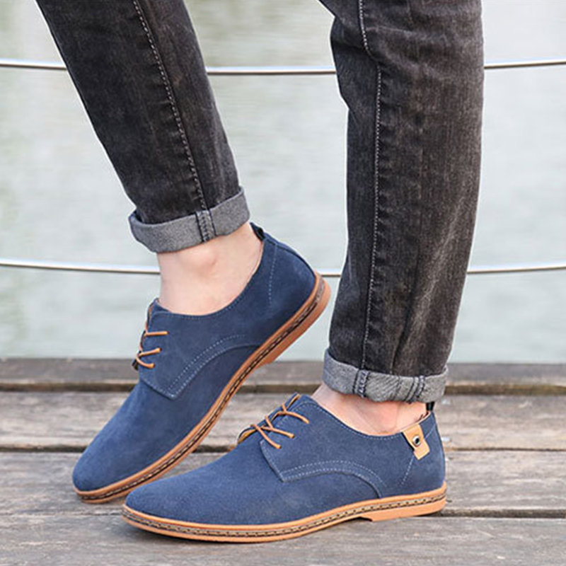 Men Casual Shoes 2016 New Fashion Comfortable Flat Men Oxford Shoes Lace up Solid Winter Men