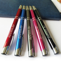 Custom your logo free on metal top stylus pen 500pcs/lot for SALE special trade show giveaways