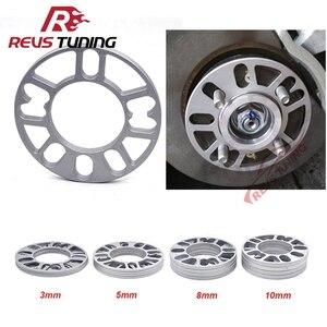 Image 1 - 4PCS/Lot 3mm 5mm 8mm 10mm Universal Aluminum Fit 4&5 Lug Car Wheel Spacer Shims Plate 4x100 4x114.3 5x100 5x108 5x114.3 5x120