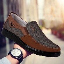 Лоферы мужские без шнуровки, повседневная обувь для тренировок, дышащие кожаные, лоскутные, нетканые, для взрослых, 38 50