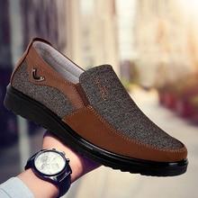 Mocassins en cuir pour hommes, chaussures de bateau respirantes non tissées, dentraînement, grande taille 38 50, sans lacet