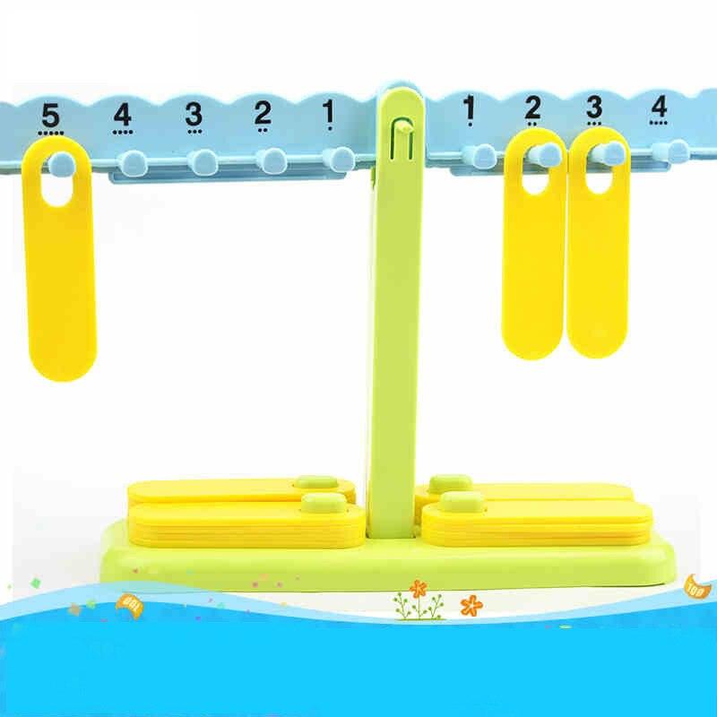 Bébé en plastique balance mathématiques jouets d'apprentissage précoce jouets éducatifs enfants enfant apprendre les mathématiques et les blocs de comptage