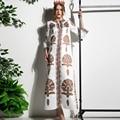 Sueltos vestidos de las mujeres europeas moda primavera verano imprimir high street manga flare completo rebordear incity 2017 vintage new dress
