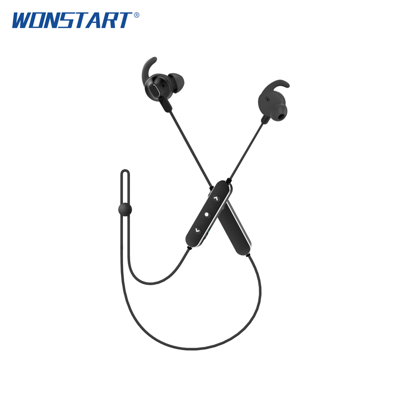 WONSTART ANC Sports Earphones Wireless Bluetooth 4.1 Headphones Stereo Sweatproof Headset AptX HIFI with Mic Wireless Earbuds letike bluetooth headphones wireless sports earphones sweatproof headset magnetic aptx hifi 3d stereo with mic for iphone xiaomi
