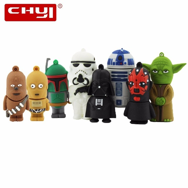 CHYI Cartoon Robot USB Flash Drive Pen Drive Darth Vader Yoda ...