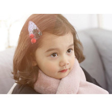 2019 New arrival 2PCS kids girls hair accessories glittery crown pearl clips for bows snap clip cherry barrette
