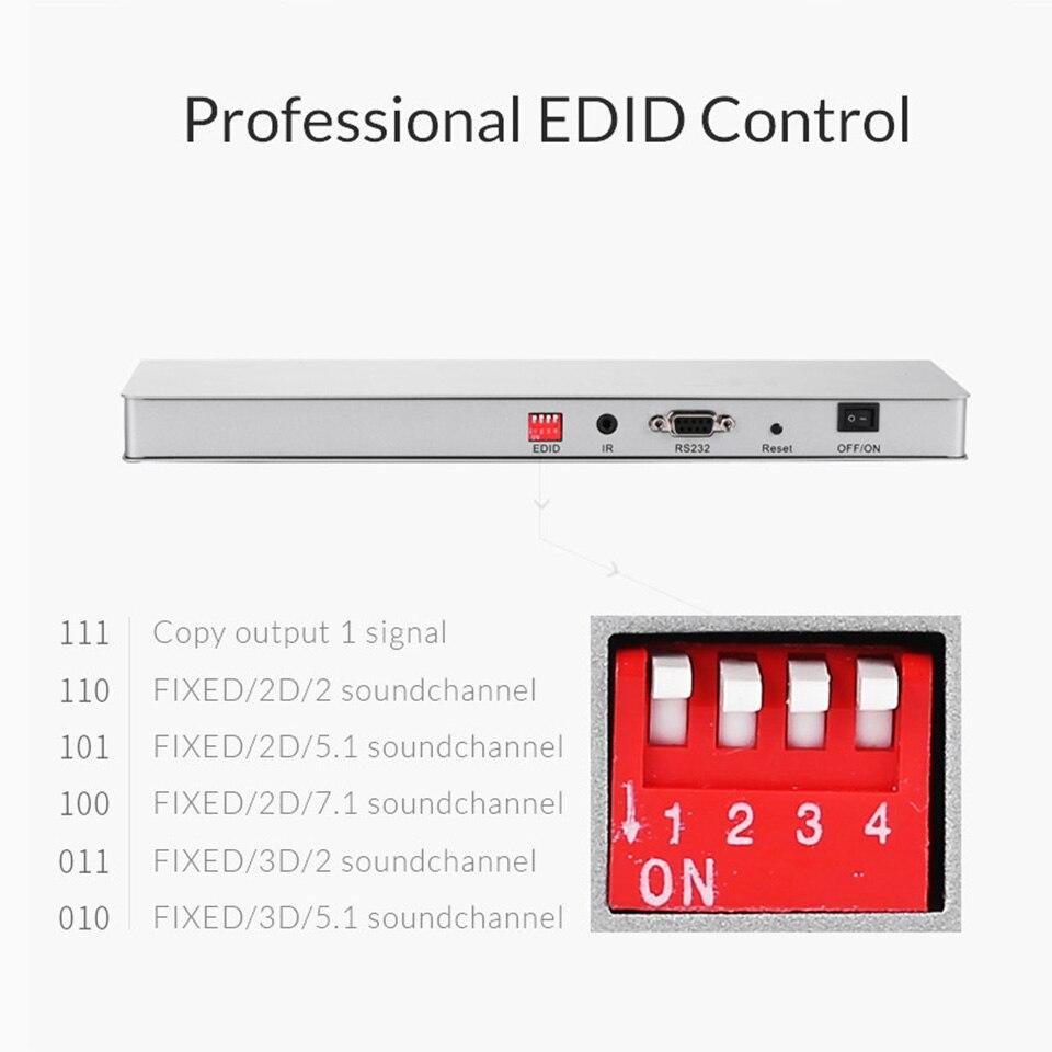 Répartiteur Unnlink HD mi 1X8 HD mi 2.0 UHD 4K @ 60HZ HDCP 2.2 HDR 1 en 8 Out EDID pour smart tv LED mi Box ps4pro xbox one s/x projecteur - 3
