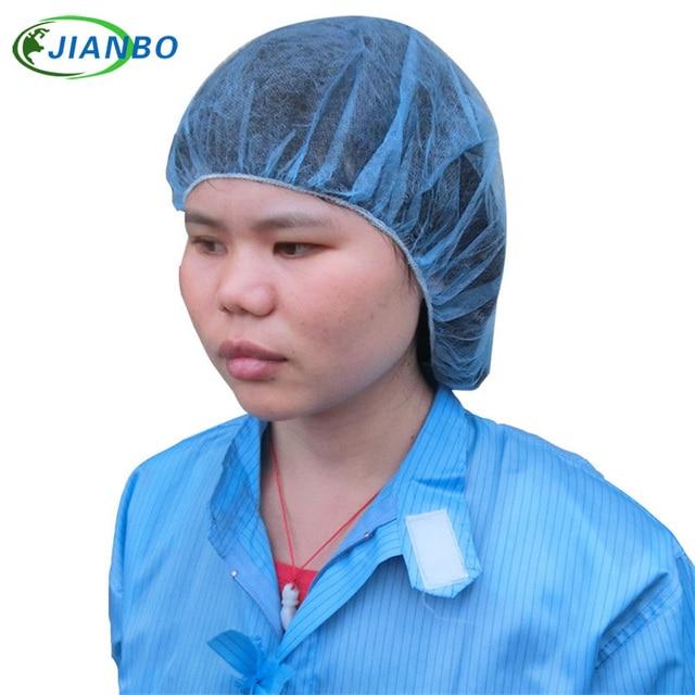 e4dc8849720 Medical Cap Disposable Non-woven Dust Net Caps Women Men Cosmetology Food  Hygiene Hair Catering Kitchen Bar Makeup Hat 100pcs