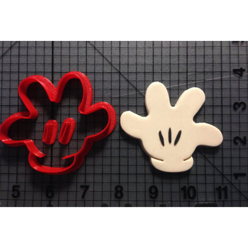 Cartoon Micky Mouse Hand Cookie Cutter Set Number Glove Series One Two Three Four Custom 3D Printed Sugar Fondant Cupcake Top in Cookie Tools from Home Garden