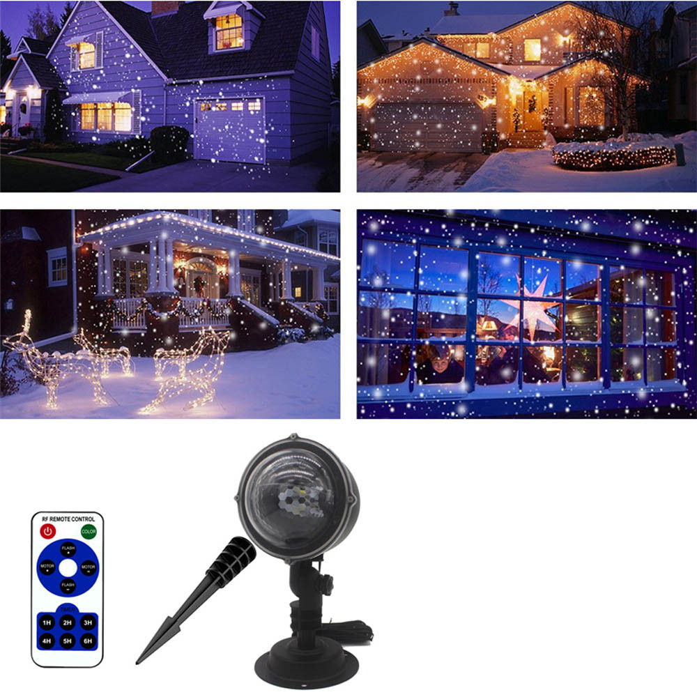 2018 New Style Rotating Projection Snowflake Led Lights Projection Lamp Christmas DecorationWholesale Discount 5% bison rolling grill