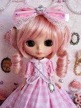 89# Pretty Lolita Long Dress Handmade For Blythe Pullip Doll Dollfie