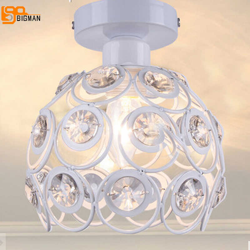 new design modern crystal chandelier lamp black/white lustre hallway light bedroom lamp free shipping цена
