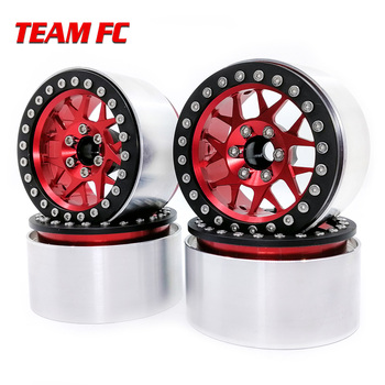 4PCS Metal 2.2 Inch Wheel Rim for 1/10 RC Crawler Axial SCX10 RR10 90053 AX10 Wraith 90056 90045 90048 S90 yfan 4pcs d1rc 1 8 super grip rc crawler 3 2 inch rc thick wheel tires with sponge for 1 8 rc crawler and 1 10 axial km2 wraith
