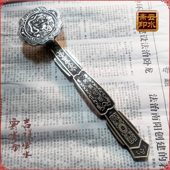Chinese Tibet silver Paperweight as one wishes фото