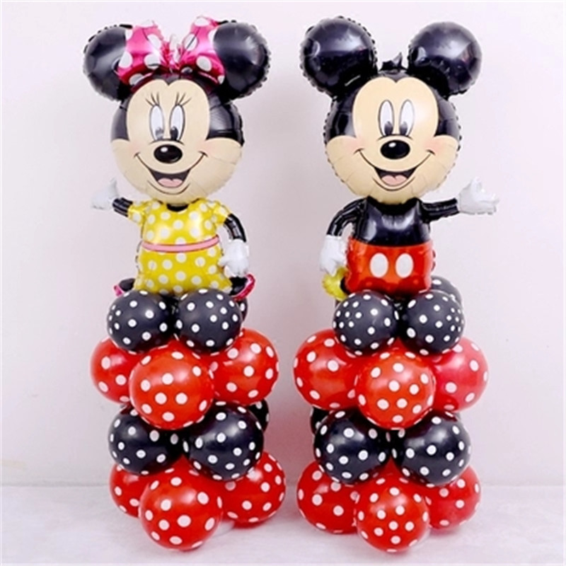 28pcs Set 112cm Giant Mickey Minnie Mouse Foil Balloon Cartoon Birthday Party Decorations Kids Baby Shower Party Baloon Toys Buy At The Price Of 11 85 In Aliexpress Com Imall Com