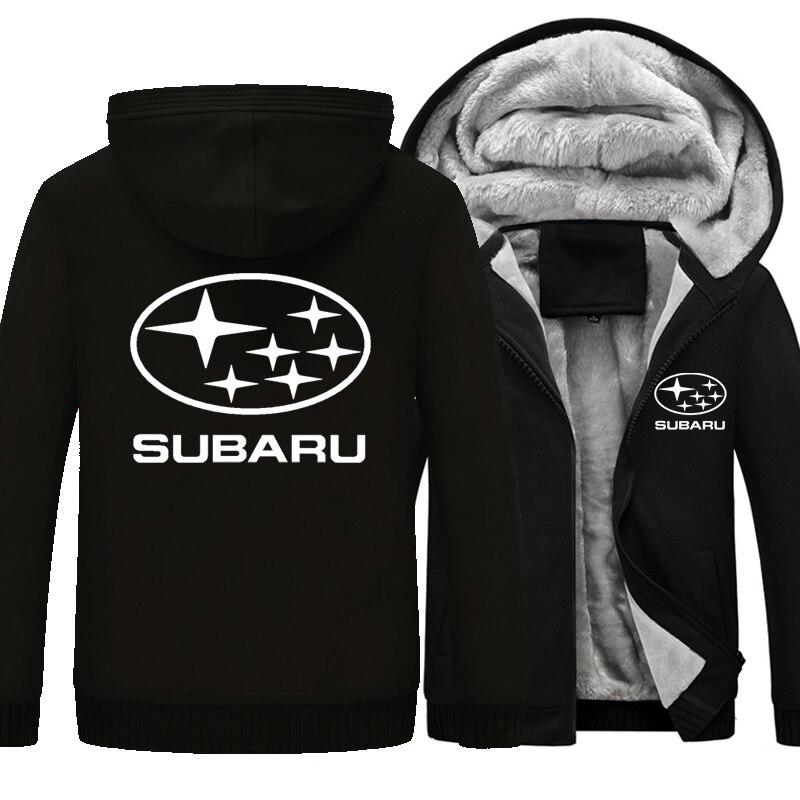 Heiße Neue Winter Mantel Auto Subaru Logo Verdickung Warm Sweatshirts männer Baumwolle Mantel Lässig Fleece Sweatshirts Mens Hoodies