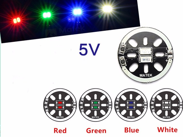 2pcs/lot LED X2/5V Motor Mount light for 1806 2204 2206 Multicopters Drones Red Blue Green White F19239/42