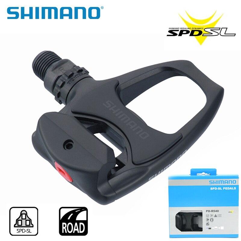 SHIMANO PD-R540 Chrome-moly & aluminium vélo de route vélo vélo large plate-forme pédales comprennent SPD SL SM-SH11 crampons auto-bloquants