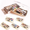 12 Цветов Блеск Палитра теней 6 стиль водонепроницаемый Тени для век Палитра Красоты Флэш Алмаз Тени Для Век Макияж установить Y1-5