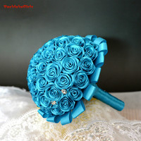 Artificial Wedding Bouquets Hand made Flower Rhinestone Bridesmaid Crystal Bridal Wedding Bouquet de mariage 2018